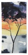 Sunset Tree Koh Chang Thailand Beach Towel