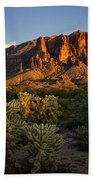 Sunset View Of The Superstitions  Beach Towel
