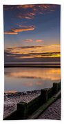 Sunset Wales Beach Towel by Adrian Evans