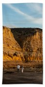 Sunset Walk At Flat Rock  La Jolla California Beach Towel