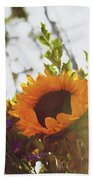 Sunshine And Sunflowers Beach Towel