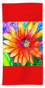 Sunshine Flower Beach Towel