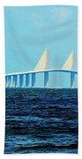 Sunshine Skyway Bridge Beach Towel