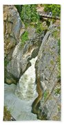 Sunwapta Falls Along  Icefields Parkway In Alberta Beach Towel