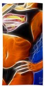 Superman 1 Fractal Beach Towel by Gary Gingrich Galleries