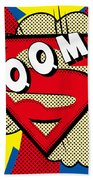 Superman Boom  Beach Towel
