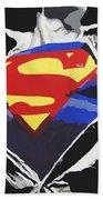 Superman Beach Towel by Erik Pinto