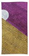 Supermoon Original Painting Beach Towel