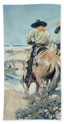 Supply Wagons Beach Towel by Newell Convers Wyeth