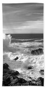 Surf At Cambria Beach Towel