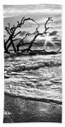 Surf At Driftwood Beach Beach Towel by Debra and Dave Vanderlaan