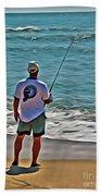 Surf Fishing Beach Towel