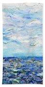 Surf Study Beach Towel by Regina Valluzzi