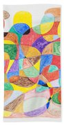 Abstract Dance Party  Beach Towel