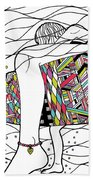 Surfer Girl Beach Towel by Susan Claire