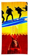 Surfing For Peace Beach Towel