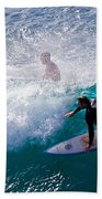 Surfing Maui Beach Towel