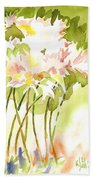 Surprise Lilies IIi A Portrait Beach Towel