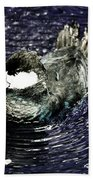 Surrounded By Purple Water Rings Beach Towel