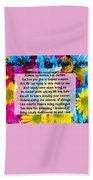 Surrounded By Your Love Beach Towel