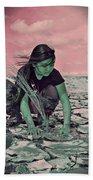 Surviving The Fallout Beach Towel by Absinthe Art By Michelle LeAnn Scott