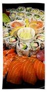 Sushi Party Tray Beach Towel