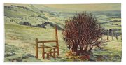 Sussex Stile, Winter, 1996 Beach Towel