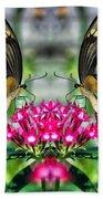 Swallowtail Butterfly Digital Art Beach Towel