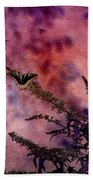 Swallowtail In The Butterfly Bush - Featured In The Wildlife And Comfortable Art And Newbies Groups Beach Towel