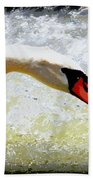 Swan - Beautiful - Elegant Beach Towel