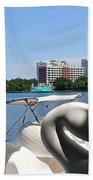 Swan Boats And Buildings Beach Towel