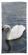 Swan Circles Beach Towel
