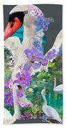 Swan Day Dream Beach Towel