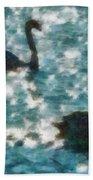 Swan Lake Beach Towel by Ayse Deniz