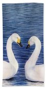 Swan Love Beach Towel