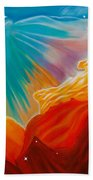 Swan Nebula Beach Towel by Barbara McMahon