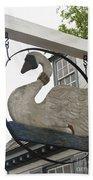 Swan Tavern Sign Yorktown Beach Towel by Teresa Mucha