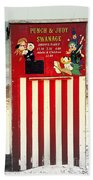Swanage Punch And Judy Beach Towel