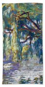 Swans Family . Forest Of Boulogne  Beach Towel