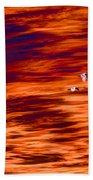 Swans Flying Beach Sheet