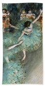 Swaying Dancer .dancer In Green Beach Towel