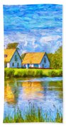 Swedish Lakehouse Beach Towel