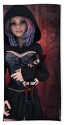 Sweet Betty With Gothic Doll Beach Towel