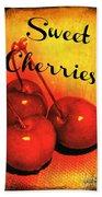 Sweet Cherries - Kitchen Art Beach Towel