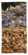 Sweet Corn And Husks Beach Towel