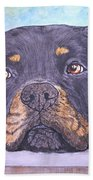 Rottweiler's Sweet Face Beach Towel