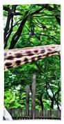 Sweet Giraffe Beach Towel