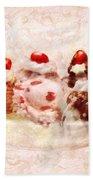 Sweet - Ice Cream - Banana Split Beach Sheet