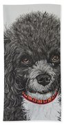 Sweet Miss Molly The Poodle Beach Towel