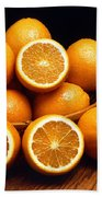 Sweet Oranges Whole And Halved Beach Towel